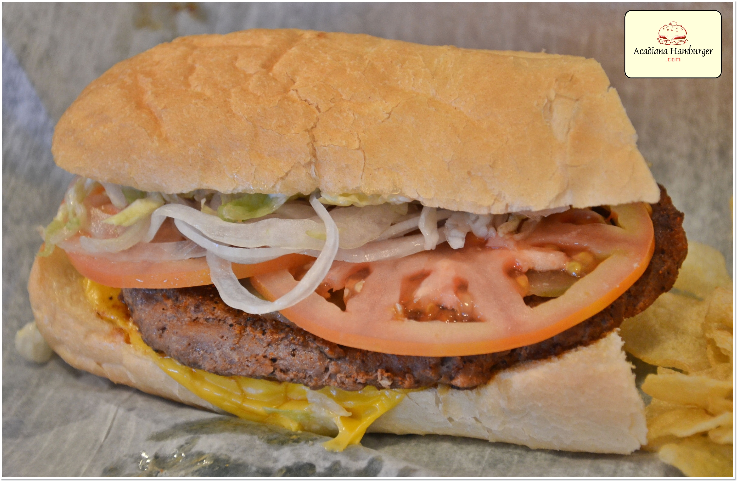 Juliens Poboys Hamburger Po-Boy in Broussard, LA and Lafayette, LA Photo by Kevin Ste Marie